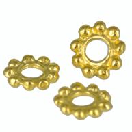 ring bolletjes 10mm goud rond metaal