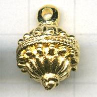 kralen 7mm goud cilinder metaal