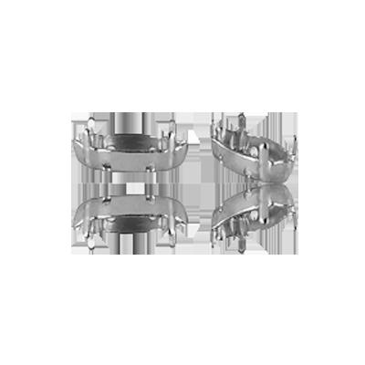 Opnaaikastjes setting 15mm zilver ovaal