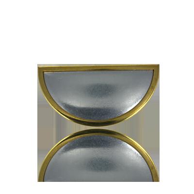 broches 60mm goud ovaal metaal