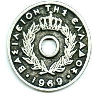 munten 52mm oudzilver rond tin