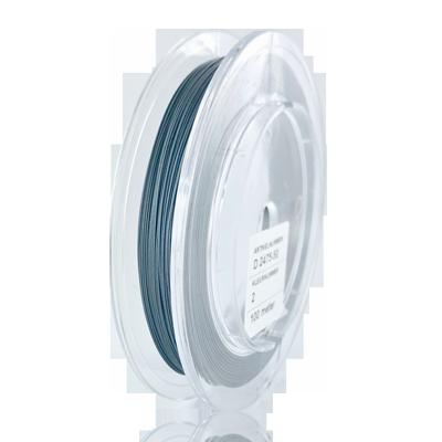 Nylon coated rijgdraad staaldraad stainless steel 0,5mm blauw grijs
