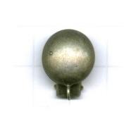 oorclips 14mm oudzilver rond metaal