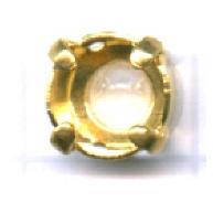 opnaaikastjes 7mm goud rond
