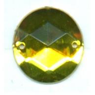 opnaaistenen 15mm geel rond