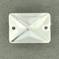 opnaaisteen 18mm rechthoek kristal