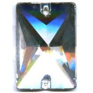 opnaaistenen 25mm rechthoek kristal kleurnummer 0004