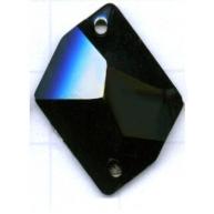 opnaaistenen 26mm zwart kristal