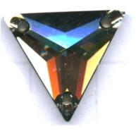 opnaaistenen 16mm groen driehoek kristal