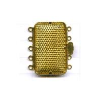 opwerksluitingen 32mm goud rechthoek