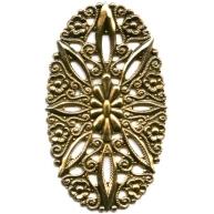 filigrain ornament 51mm oudgoud ovaal metaal