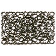 filigrain ornament 43mm oudzilver rechthoek metaal