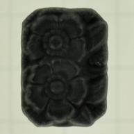 plakstenen 18mm zwart achthoek glas