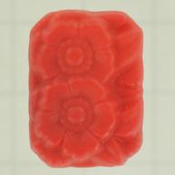 plakstenen 18mm rood achthoek glas