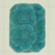 plakstenen 18mm blauw achthoek glas