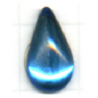plakstenen 13mm blauw druppel glas