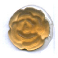 plakstenen 8mm bruin rond glas