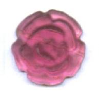 plakstenen 8mm roze rond glas