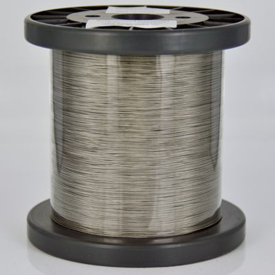 Nylon coated staaldraad stainless steel rijgdraad 0,45mm zilver rond