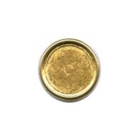 rijgplaatjes 16mm goud rond metaal