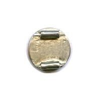 rijgplaatjes 16mm zilver rond metaal
