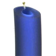 rijgsnoer 8mm blauw rond kunststof