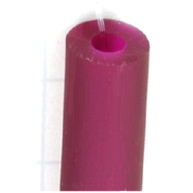rijgsnoer 8mm rood rond kunststof kleurnummer 970