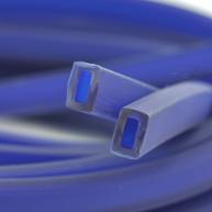 rijgsnoer 10mm blauw rechthoek kunststof