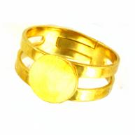 ringen 9mm goud rond metaal kleurnummer 737