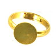ringen 11mm goud rond metaal