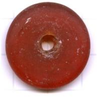schijven 25mm rood ovaal glas