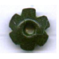 schijven 6mm groen bloem hout kleurnummer 6088