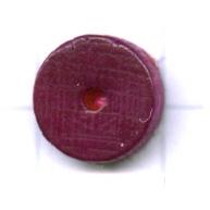 kralen 10mm paars rond schijf hout kleurnummer 6018