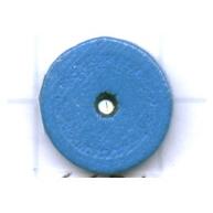 kralen 10mm blauw rond schijf hout kleurnummer 6654