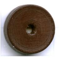 kralen 18mm bruin rond schijf 2 hout