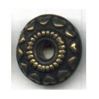 schijven 18mm oudgoud rond tin