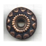 schijven 18mm brons rond tin