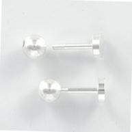 schroefpen 10mm zilver rond metaal