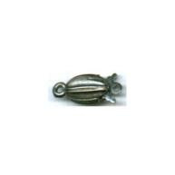 schuifsluitingen 15mm oudzilver ovaal
