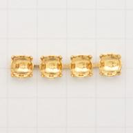 settings 8mm goud vierkant metaal