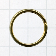 sleutelring 20mm goud rond