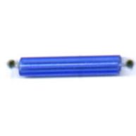staafjes kralen 15mm blauw cilinder glas