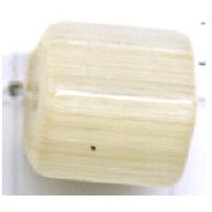 staafjes kralen 10mm bruin staafje glas