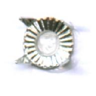 steekkastje 5mm zilver rond metaal