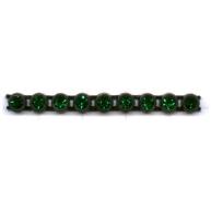 strassband 4mm groen rond kunststof