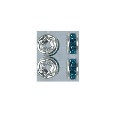 strassrondellen 4mm lichtblauw rond