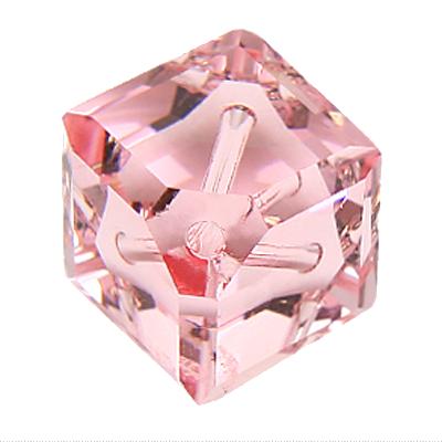 Swarovski kralen 8mm roze blokje