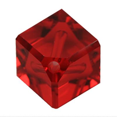 Swarovski kralen 8mm rood blokje