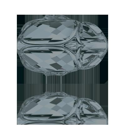 Swarovski Beads Scarabee 5728 12mm Crystal Silver Night