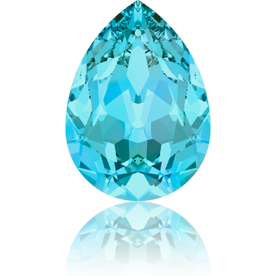 Swarovski fancy stones 10mm aquamarine druppel
